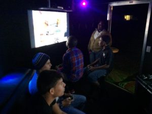 Houston Texas birthday party idea - video game truck party